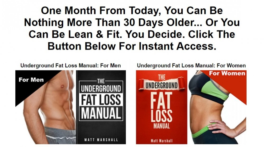 The Underground Fat Loss Manual Weight Loss